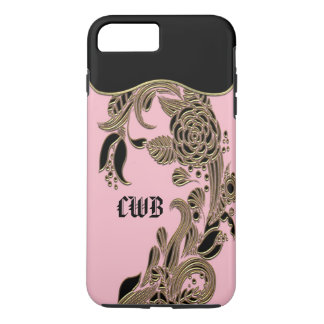 Annarose Elegant Chic Monogram iPhone 8 Plus/7 Plus Case