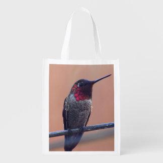 Anna's Hummingbird grocery tote bag