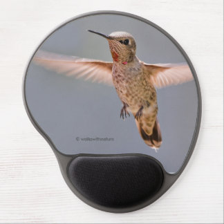 Anna's Hummingbird Hovers in Place Gel Mouse Pad