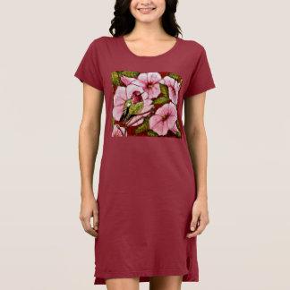 Anna's Hummingbird on Pink Trumpets Dress