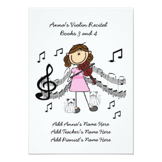 Anna's Violin Recital Invitation Card