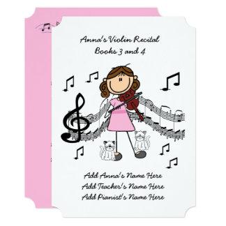 Anna's Violin Recital Invitation Card Ten Songs