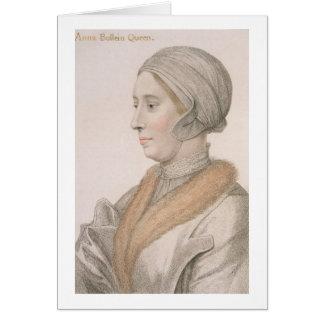 Anne Boleyn (1507-36) engraved by Francesco Bartol Card