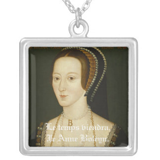 Anne Boleyn: Le Temps Viendra Silver Plated Necklace