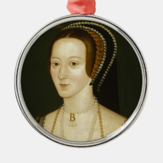 Anne Boleyn Metal Ornament