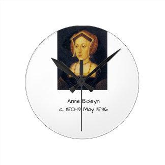 Anne Boleyn Round Clock