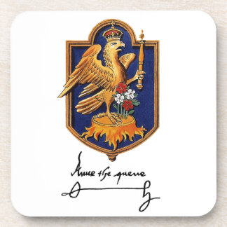 Anne Boleyn Signature & Coat of Arms Coaster