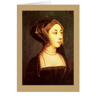 Anne Boleyn wife Henry VIII Greeting Card