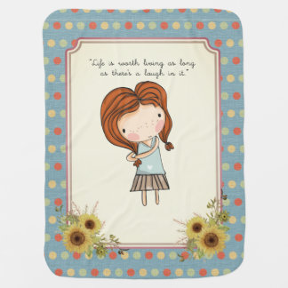 Anne Classic Literature Quote Vintage Nursery Baby Blanket