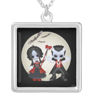 Anne-Marie and Dominic Little Gothic Silver Plated Necklace