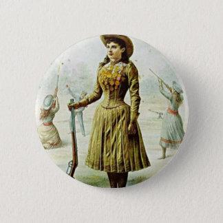 Anne Oakley 6 Cm Round Badge