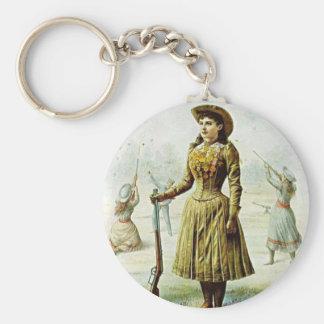 Anne Oakley Basic Round Button Key Ring