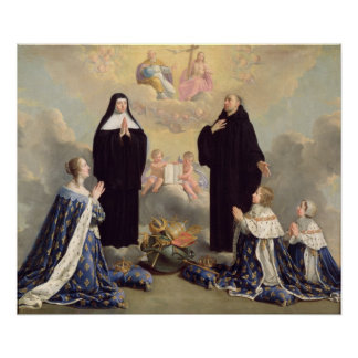 Anne of Austria  and her Children Poster