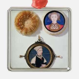 Anne of Cleves , 1539  and Jane Small Silver-Colored Square Decoration