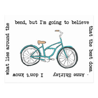 Anne Shirley- Bicycle- Inspirational Postcard