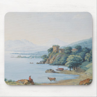 Annecy Lake with Castle by Carl Ludwig Hackert Mouse Pad