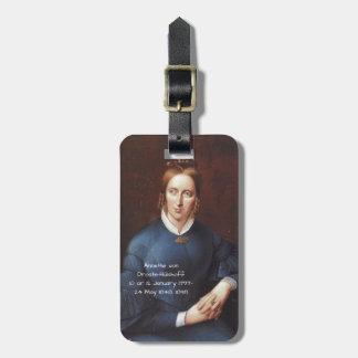 Annette von Droste-Hulshoff 1838 Luggage Tag