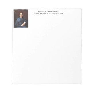Annette von Droste-Hulshoff 1838 Notepad