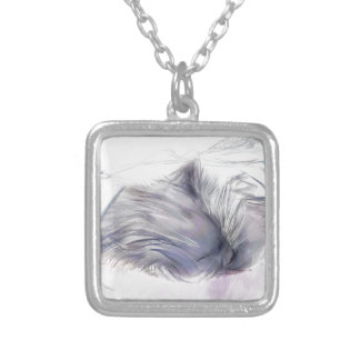 Annie first and last days silver plated necklace