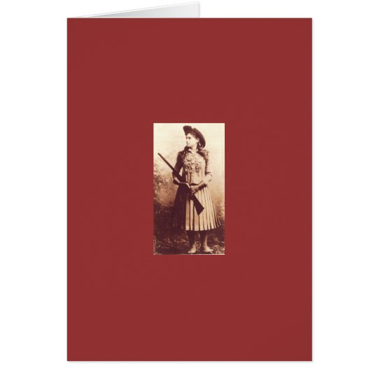 Annie Oakley Note Card