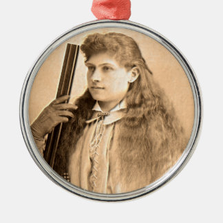 Annie Oakley Portrait Metal Ornament