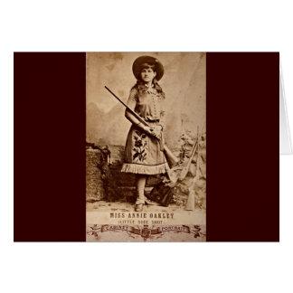 Annie Oakley Sepia Card