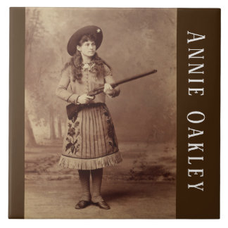 Annie Oakley Sharpshooter  Ceramic Tile