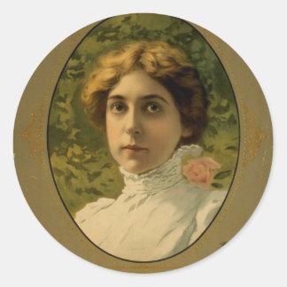 Annie Russell Vintage Theater Classic Round Sticker