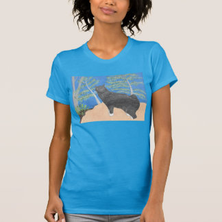 Annie The Cat Looking Over The Hillside Shirt