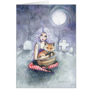Annie's Fox Greeting Card by Molly Harrison
