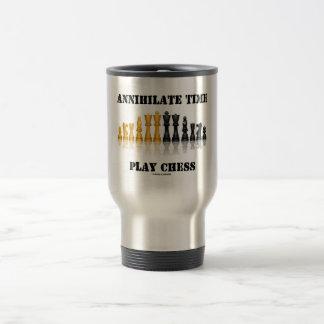 Annihilate Time Play Chess (Reflective Chess Set) Mugs