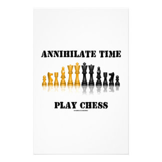 Annihilate Time Play Chess (Reflective Chess Set) Stationery Paper