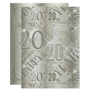Anniversary 20 Years Word Cloud ID267 Card