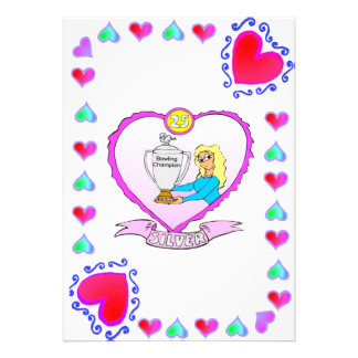 Anniversary - 25 Silver Personalized Announcements