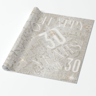 Anniversary 30 Years Word Cloud ID267 Wrapping Paper