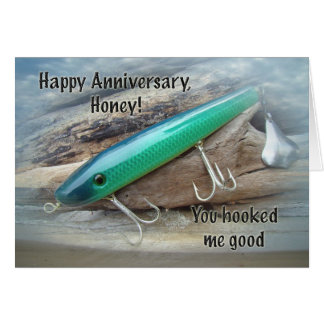 Anniversary - AJS Green Swimmer Fishing Lure Card
