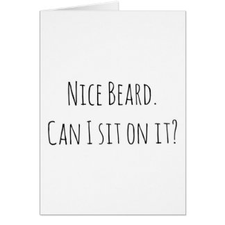 Anniversary boyfriend birthday card nice beard