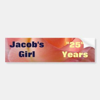 Anniversary Bumper Sticker 25 Years HIS GIRL rose