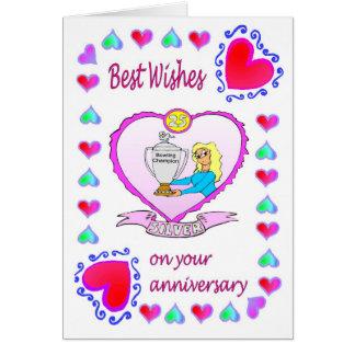 Anniversary card 25 SIlver