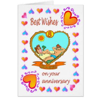 Anniversary card 8 bronze