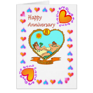 Anniversary card 8th bronze