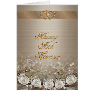 Anniversary card diamonds Always and forever