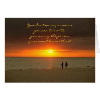 Anniversary card Sunset Love