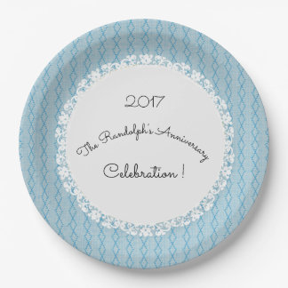 Anniversary-Celebration_Diamond-Threads_Blue_Lace Paper Plate