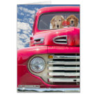 Anniversary Dogs in Truck Card