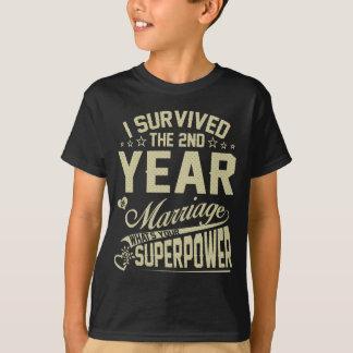 Anniversary Gift 2nd 2 years Wedding Marriage Shir T-Shirt