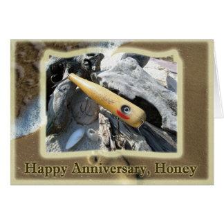 Anniversary Honey Big Snook Vintage Lure Greeting Card