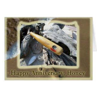 Anniversary Honey Big Snook Vintage Lure Greeting Card