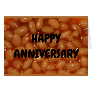 Anniversary Humor - Couple Of Favorite Human Beans Card