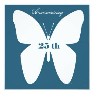 """Anniversary Invitation 25 th 5.25"""" Square Invitation Card"""